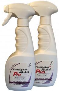 Desinfektion mit Peressigsäure / Alkohol